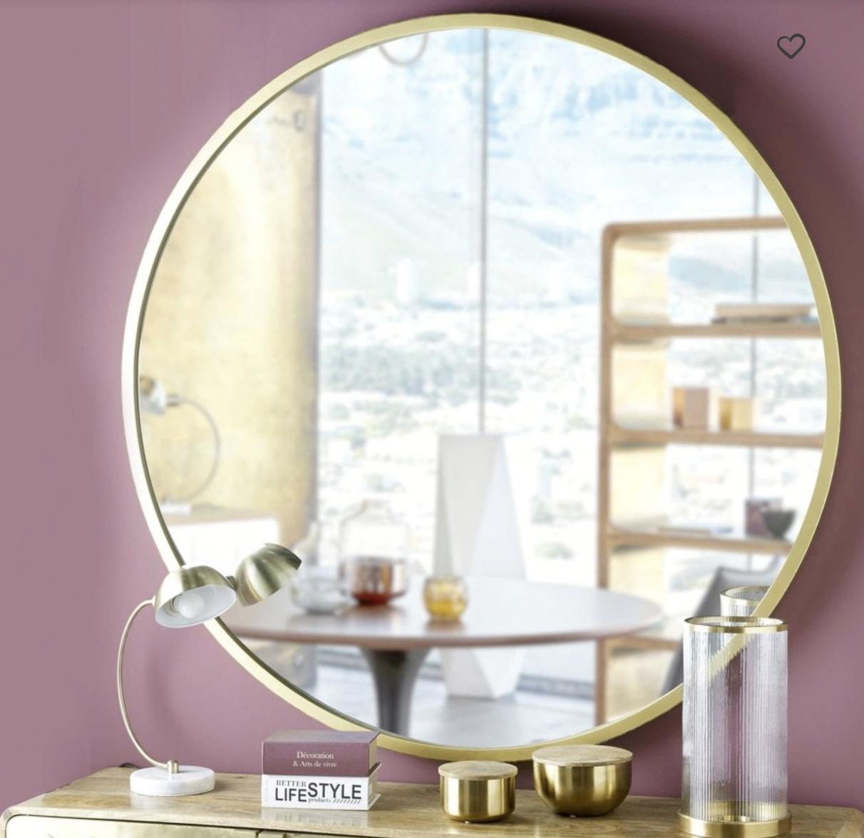 grand miroir gold laiton maison du monde